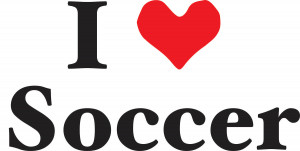 Love Soccer Quotes Vinyl wall decal i love soccer