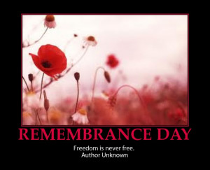 VETERANS DAY REMEMBRANCE DAY-INSPIRATIONAL POSTER AND QUOTE