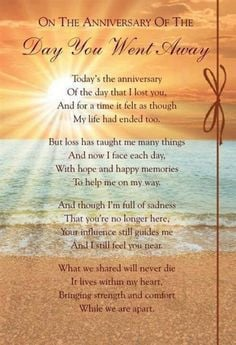 year death anniversary poem for sister google search more grief death ...