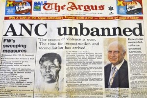 Apartheid had to end and in 1994 President F.W. de Klerk negotiated ...