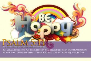 Bible Verses On Joy Psalm 5:11 Be Happy HD Wallpaper