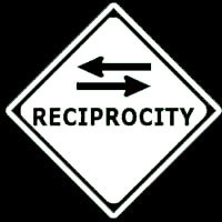 My entire life I've been walking on a street called Reciprocity.