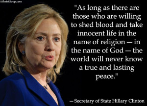 Hillary Clinton on religion