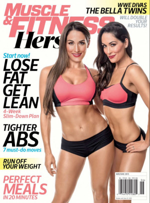 Nikki & Brie Bella – Muscle & Fitness Hers Magazine (May/June 2015)