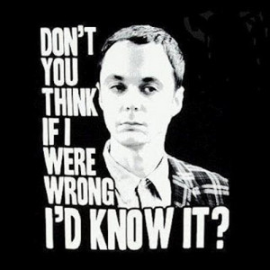 ... twice, until that one name Sheldon Lee Cooper pops into your brain