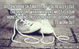 ... honesty and trust for that relationship to work out inspirational