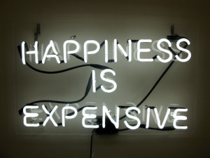 neon neon signs signs lights colorful happiness is expensive neon sign