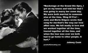 Johnny Cash quote on falling in love with June Carter