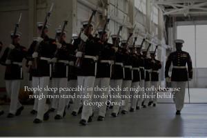 """People sleep peacefully…"""" – George Orwell motivational ..."""