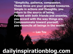 "... yourself, you reconcile all beings in the world."" ― Lao Tzu quotes"