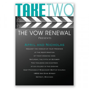 Wedding Stationery · Vow Renewal · Take Two - Vow Renewal Invitation
