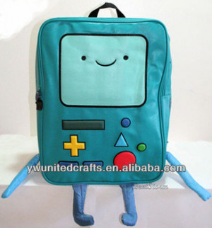 Adventure Time Finn and Jake BMO BEEMO Backpack Book Bag Tote GIANT W ...