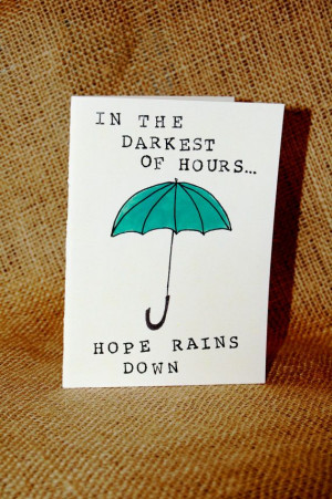 Hope Rains Down. Sympathy card. by PaperPlainDesignCo on Etsy, $3.50