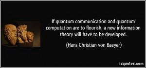 If quantum communication and quantum computation are to flourish, a ...