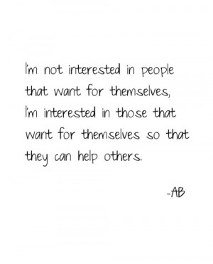 Help others.
