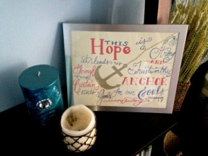 Ready to ship Bible verse 8x10 This Hope is a by etchedheart, $10.00