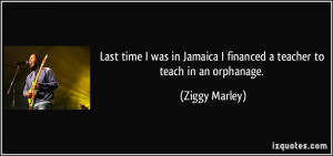 Last time I was in Jamaica I financed a teacher to teach in an ...
