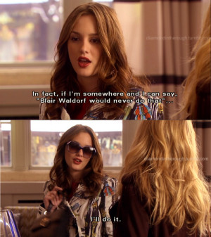 friends, blair, blair and serena, blair waldorf, friends, gg quote ...