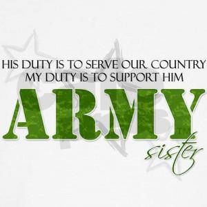 His Duty Army Sister Organic Women's T-Shirt