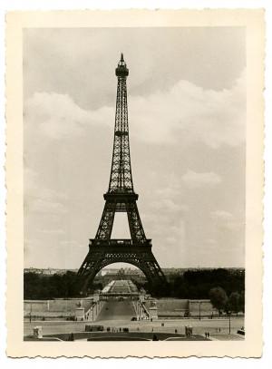 Vintage Image – Eiffel Tower – Old Photo