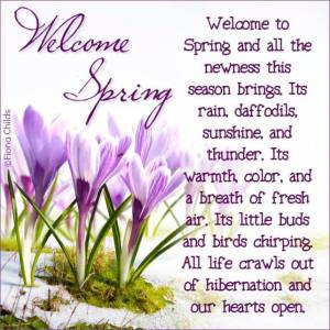 Welcome to Spring poems and all the newness this season brings.