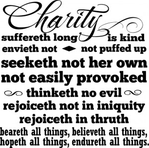 Details about Charity Suffereth Long Christian Bible Verse Vinyl Decal ...