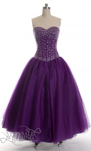 Purple Violet Beaded Prom...