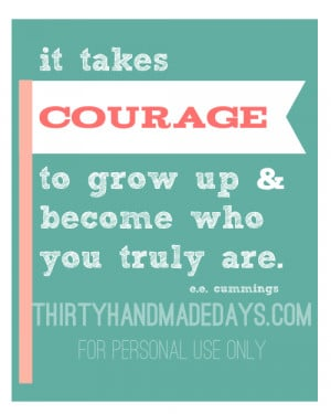 "Download ""Courage"" 8″x10″ quote printable ."