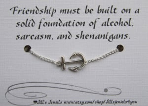 ... - Bridesmaids Gift - Friendship Anklet - Friends Forever - Quote Gift