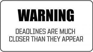 Deadlines quote #1