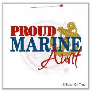 5149 Sayings : Proud Marines Aunt 5x7 £1.90p