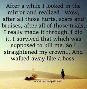 Walk away like a boss