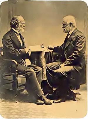Robert E. Lee with Joseph Johnston
