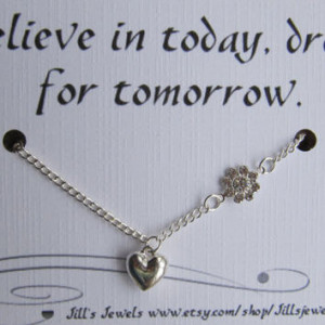 Dream Lucky Charm Necklace and Friendship Quote Inspirational Card ...