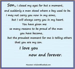 my son quotes for facebook | so true, very proud of my son | Sayings ...