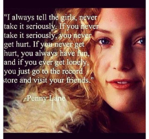 The wise words of penny lane . #quotes