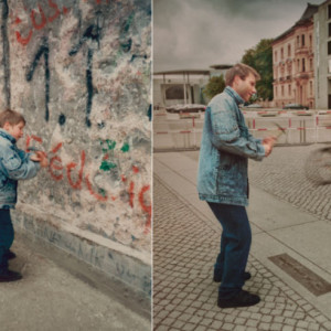 Young Man Goes Back To The Berlin Wall To Recreate A Picture Of a ...