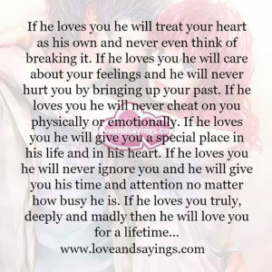 If He Loves You Quotes