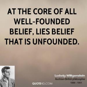 Core Beliefs Quotes