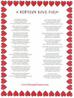 redneck love poem source http funny quotes feedio net redneck love ...
