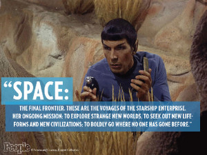 We're honoring late Star Trek actor Leonard Nimoy with the words we'll ...