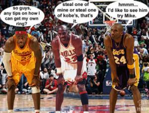 God (Michael Jordan) Jesus (Kobe Bryant) and Judas (Lebron James)