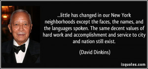 More David Dinkins Quotes