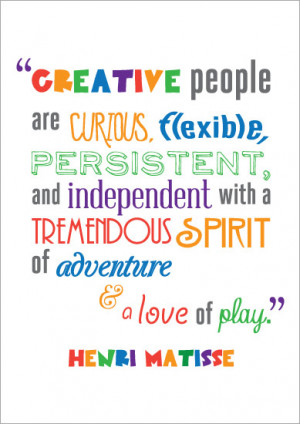 ... Quotation Poster: Henri Matisse | Free EYFS & KS1 Resources