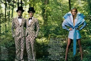 Vogue- Alice in wonderland shoot