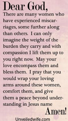 Prayer Of The Day – Healing After Miscarriages by @Kristen Mc Elwee ...