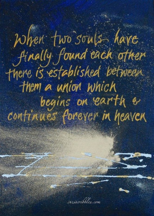 Victor Hugo quote When two souls finally meet by suziscribbles, £45 ...