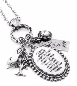 Inspirational Quote Necklace - Respect Yourself