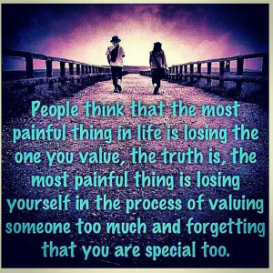 don't lose yourself chasing someone else