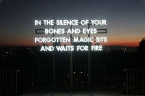 Luminous Poetry Installations